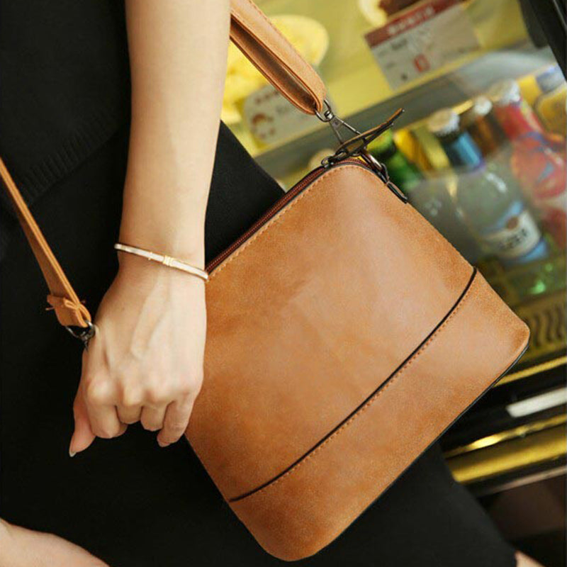 New fashion women's messenger bag scrub shell bag Nubuck Leather small crossbody bags over the shoulder women handbag - ShopTug