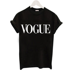 Plus Size S-XL Harajuku Summer T Shirt Women New Arrivals Fashion VOGUE Printed T-shirt Woman Tee Tops Casual Female T-shirts - ShopTug