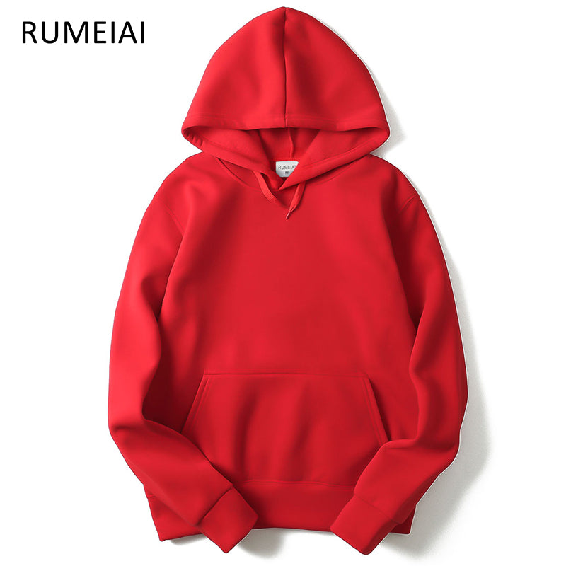 Hoodie Streetwear Hip Hop red Black gray pink Hooded Hoody Mens Hoodies and Sweatshirts Size M-XXL - ShopTug