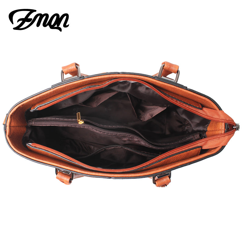 ZMQN Bag For Women Luxury Handbag Women Famous Brand PU Leather Designer Handbag High Quality Shoulder Bag Kabelka 2018 Sac A821 - ShopTug