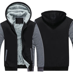 Zipper Hoodies Sweatshirts for Men | Thicken Hooded Coat