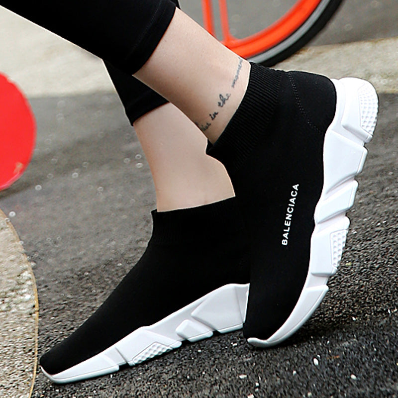 summer Brand sport athletic Running Shoe for Men woman unisex breathable Mesh female sock Sneakers Outdoors Jogging trainers - ShopTug