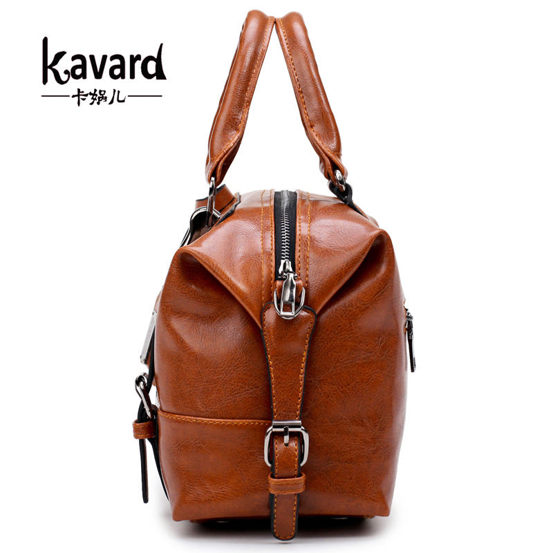 wax oil leather bag ladies hand bags women leather handbag designer handbag high quality woman bag women famous brand sac a main - ShopTug