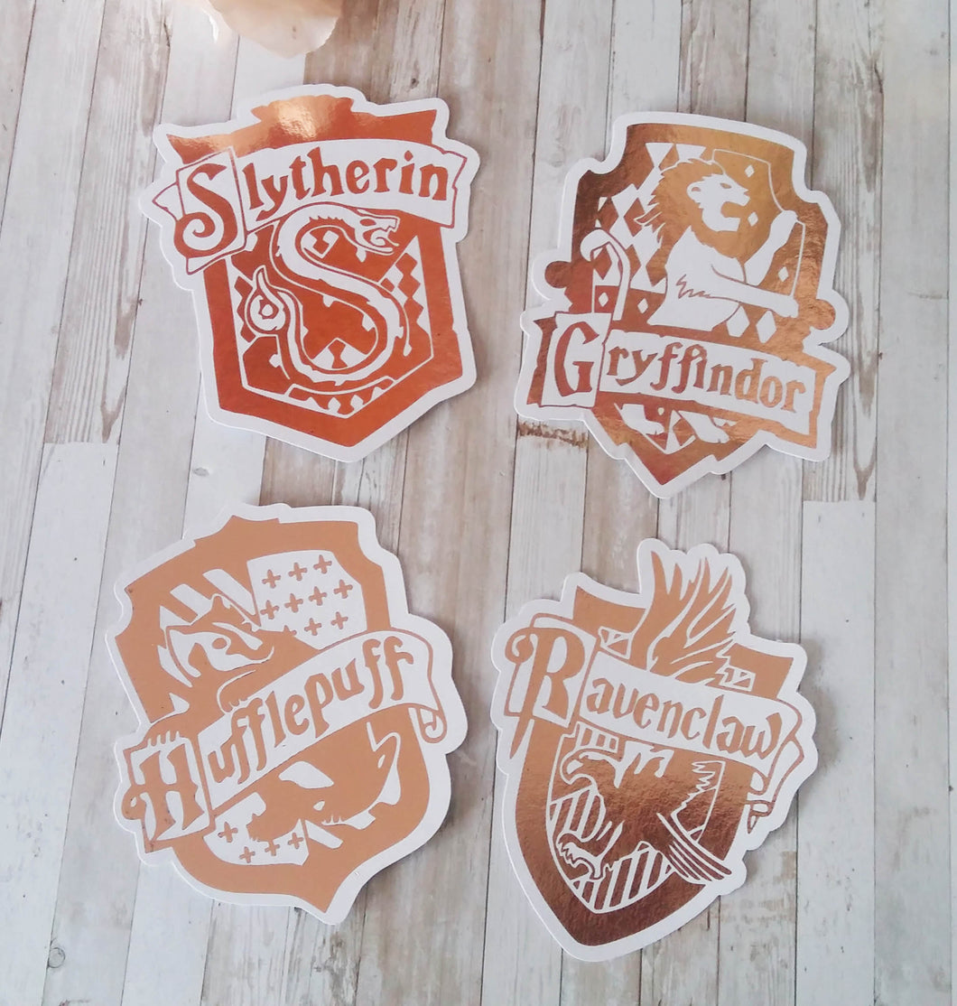 Harry Potter Foiled Houses Die cuts
