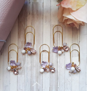 Butterfly Garden dangle gold clip