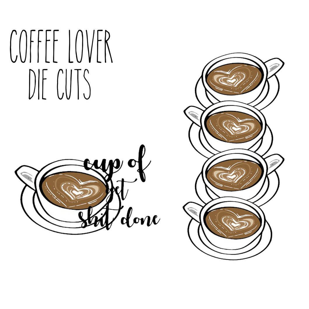 Coffee Lover Die Cuts