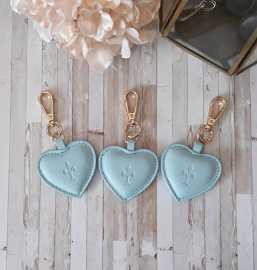Cupcake leather Heart key chain