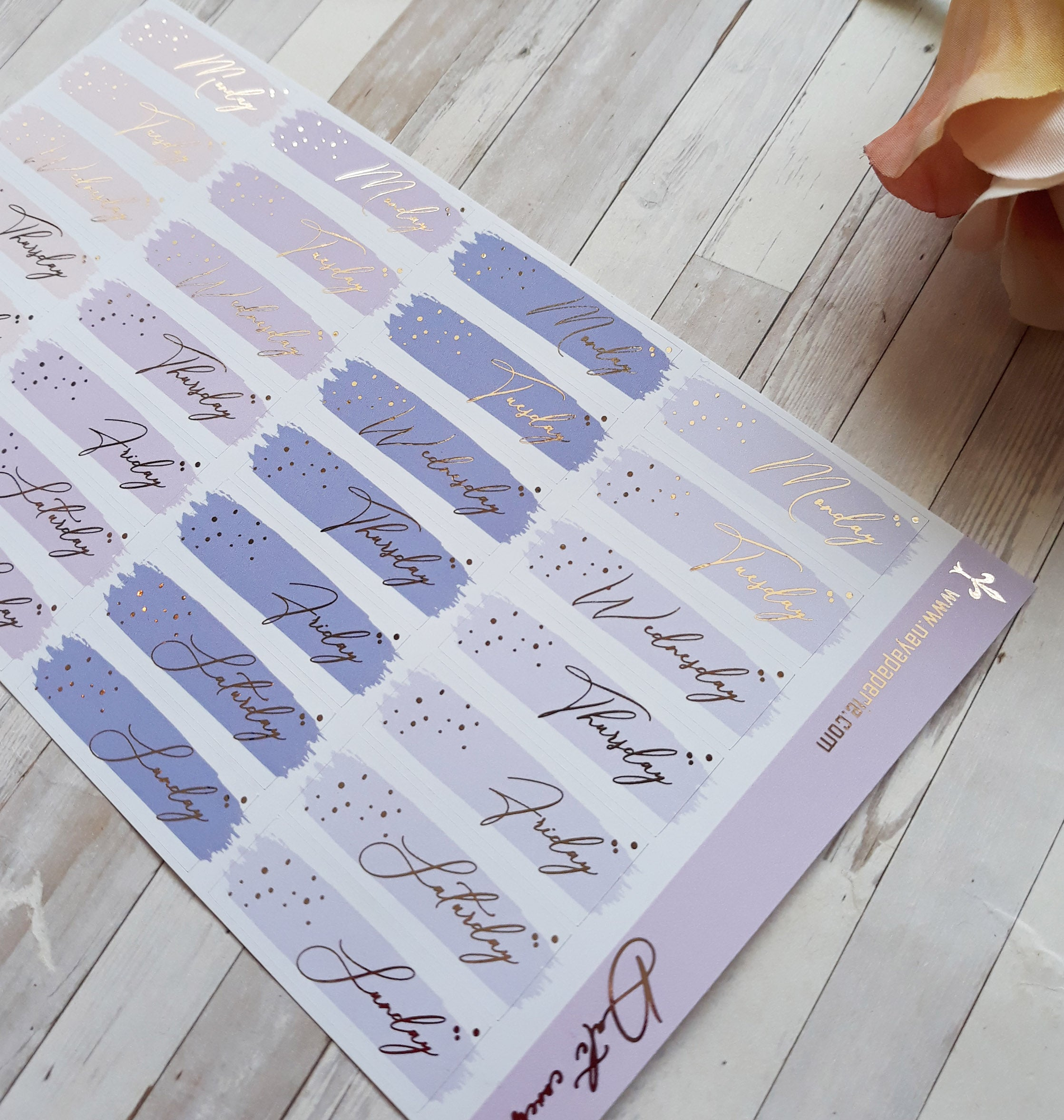 Foiled - Color Stroke Date Covers- Aurora Palette