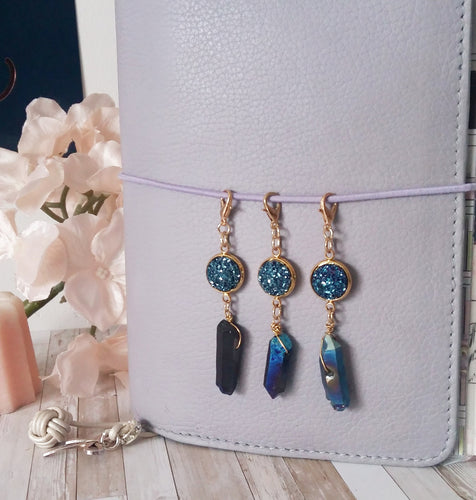 Druzy and Cristal Charm