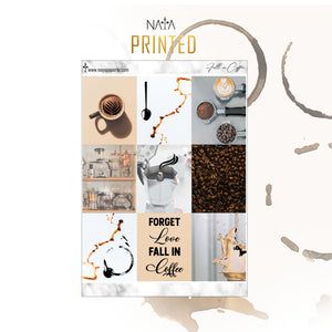 Fall in Coffee foiled kit- 4 sheets