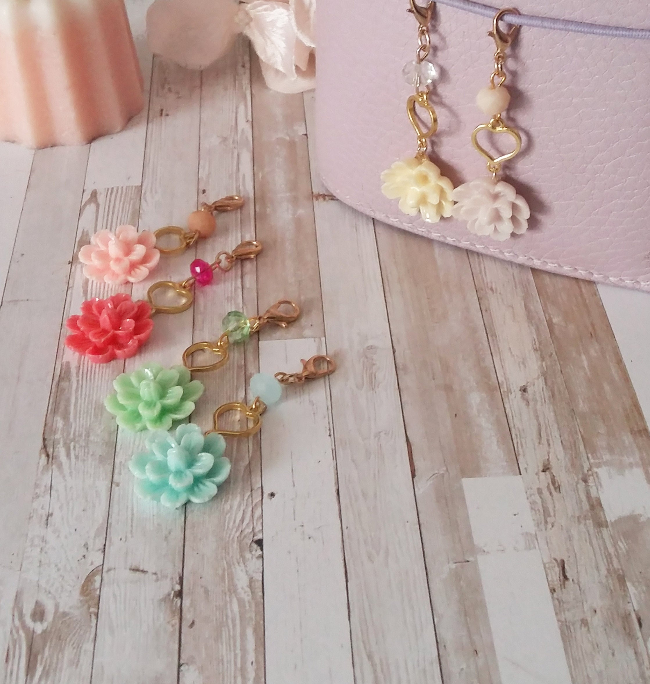 Spring Flower Charms
