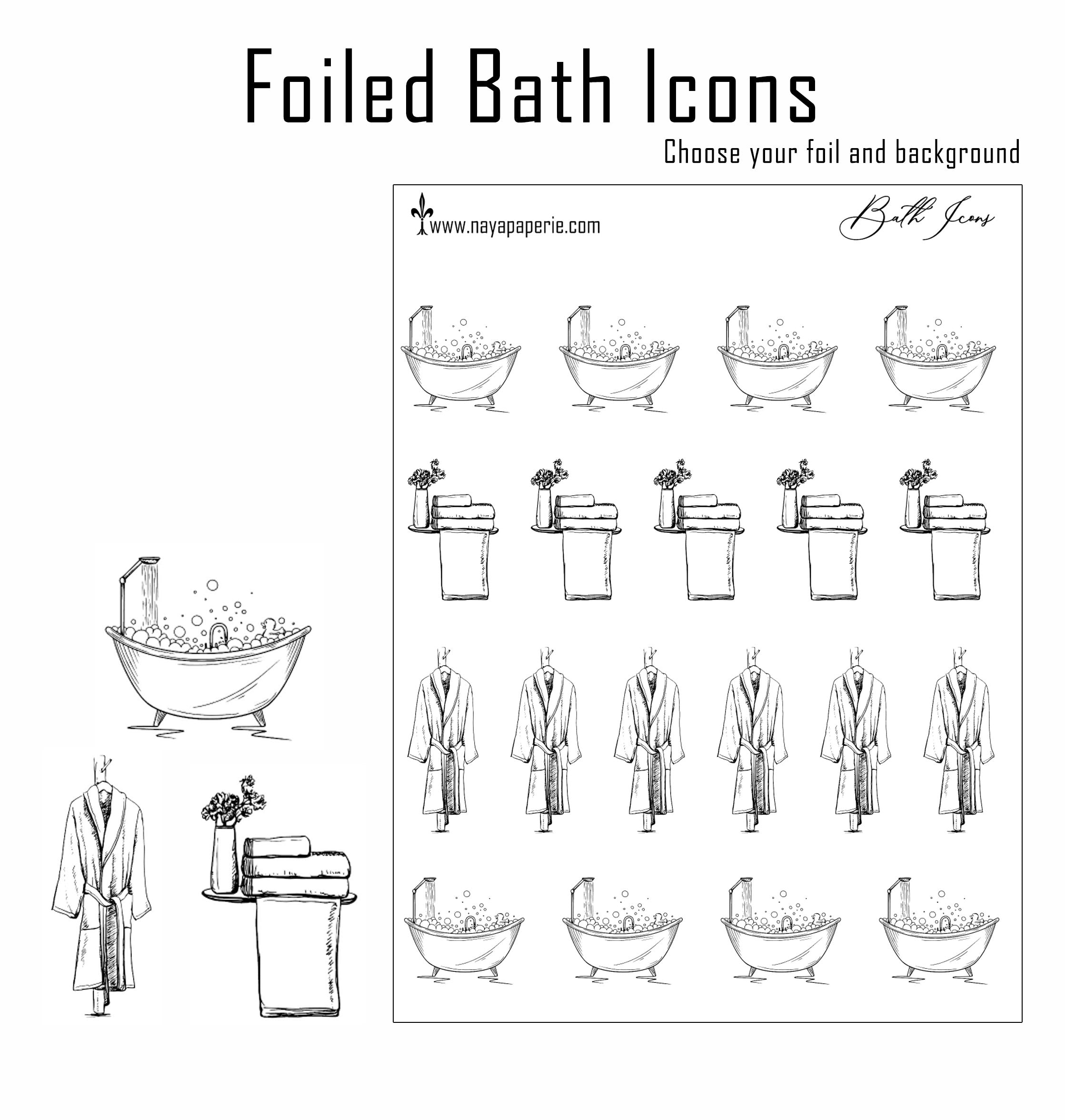 Foiled -  Bath Time Icons