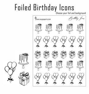 Foiled - Birthday Icons