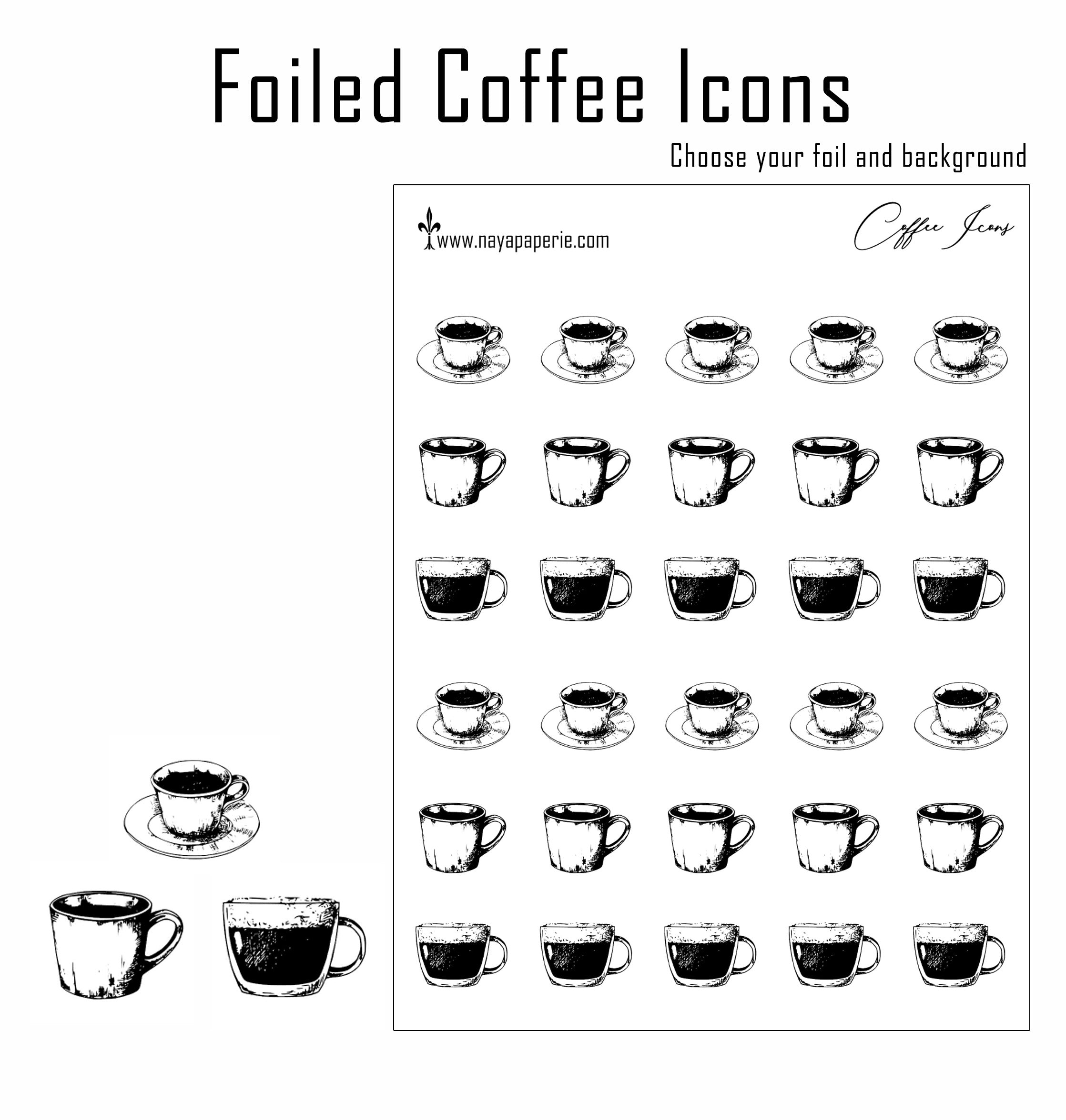 Foiled - Coffee Icons
