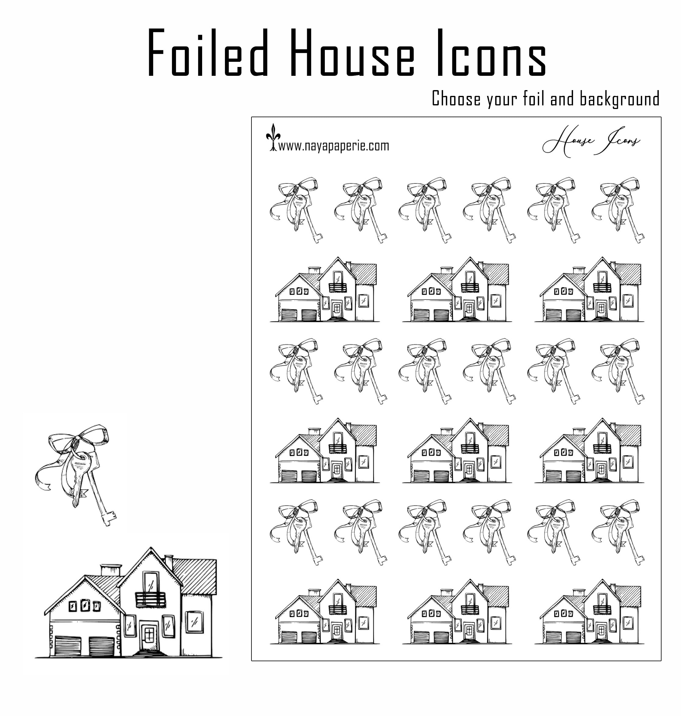 Foiled -  House Icons