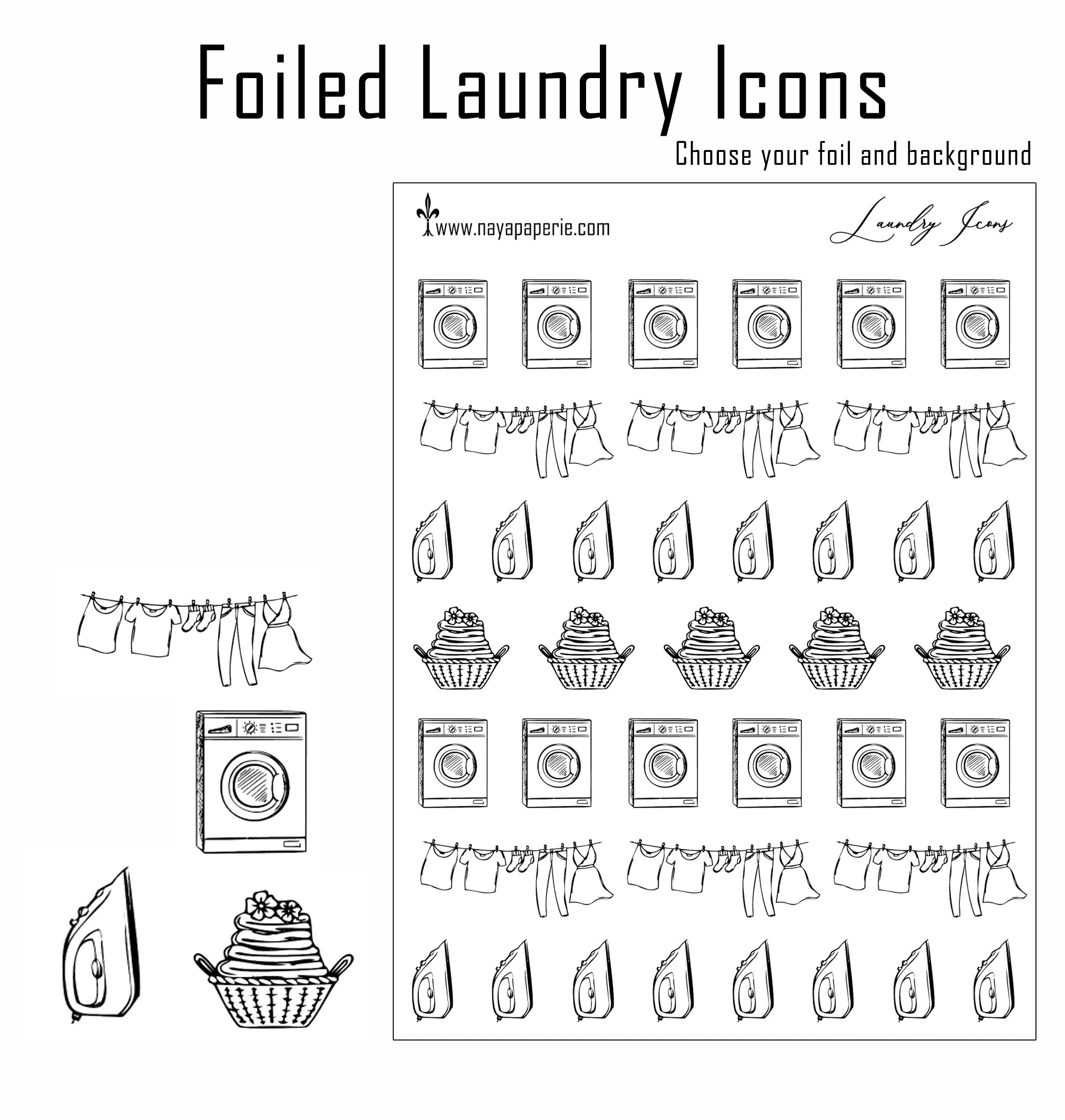 Foiled - Laundry Icons