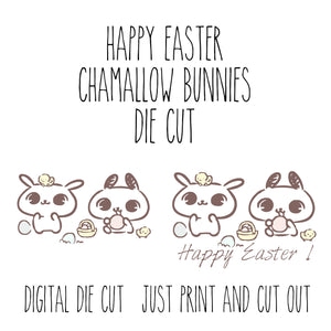 Printable Chamallow Bunny Happy Easter