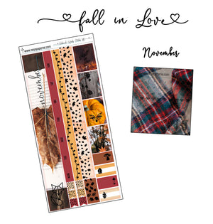 Hobonichi Monthly November - Fall in Love