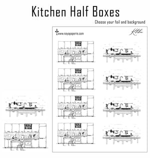 Foiled -  Kitchen Half Boxes