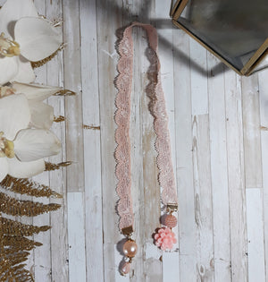 Pink Lace Bookmark