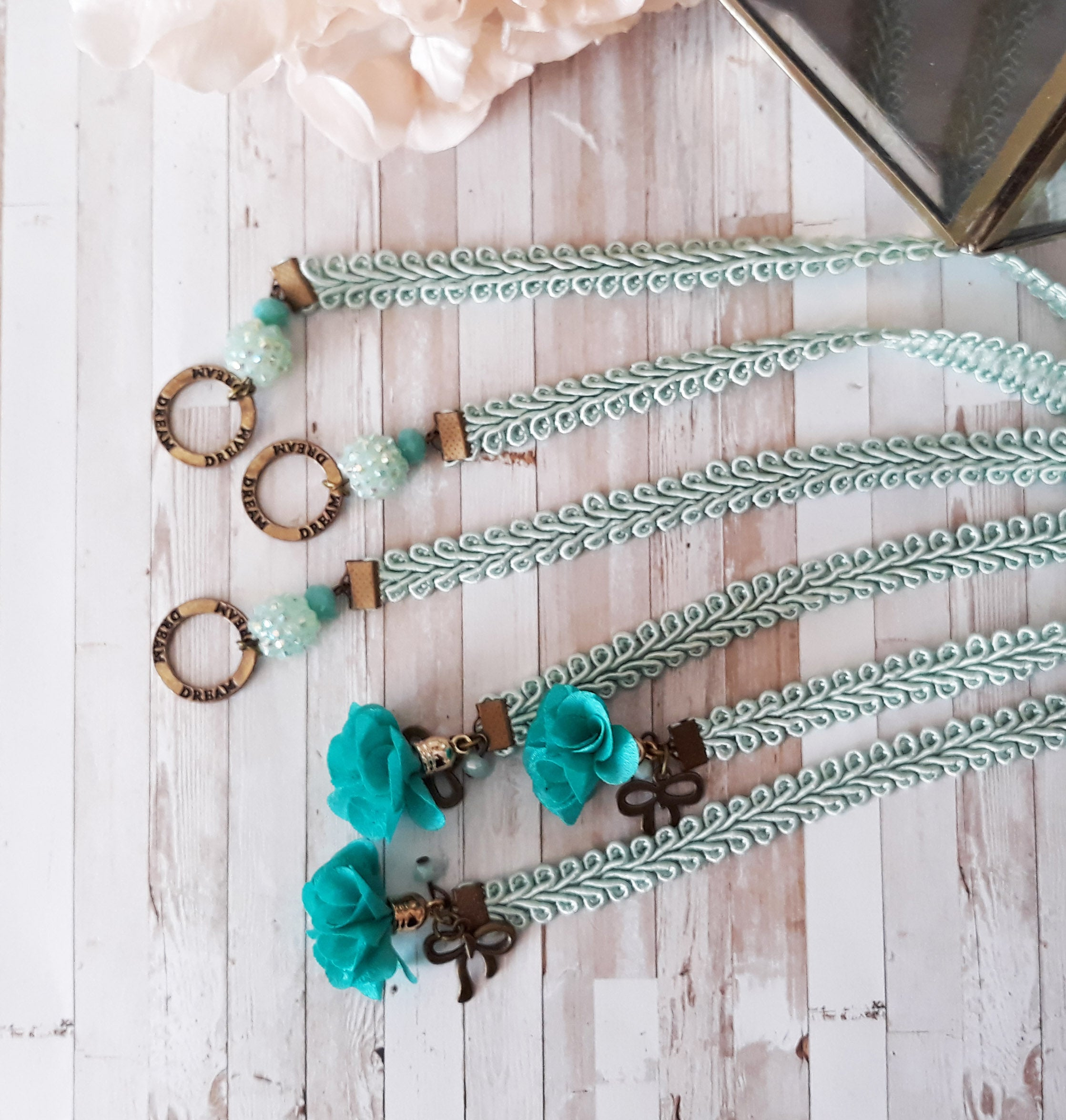 Turquoise Lace Bookmark