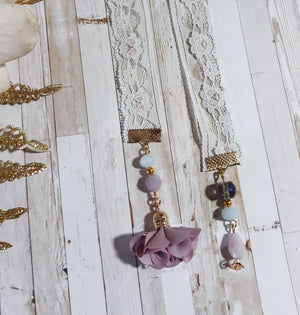 Lilac & Blue Lace Bookmark