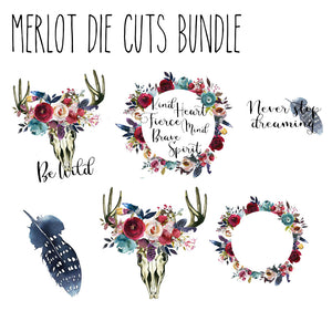 Merlot Die Cut Bundle