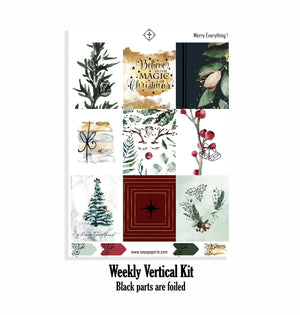 Merry Everything ! foiled  kit- 4 sheets