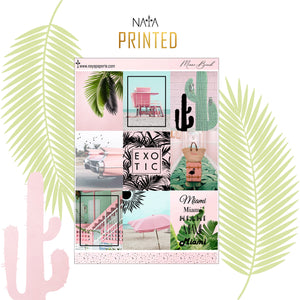 Miami Beach foiled kit- 4 sheets