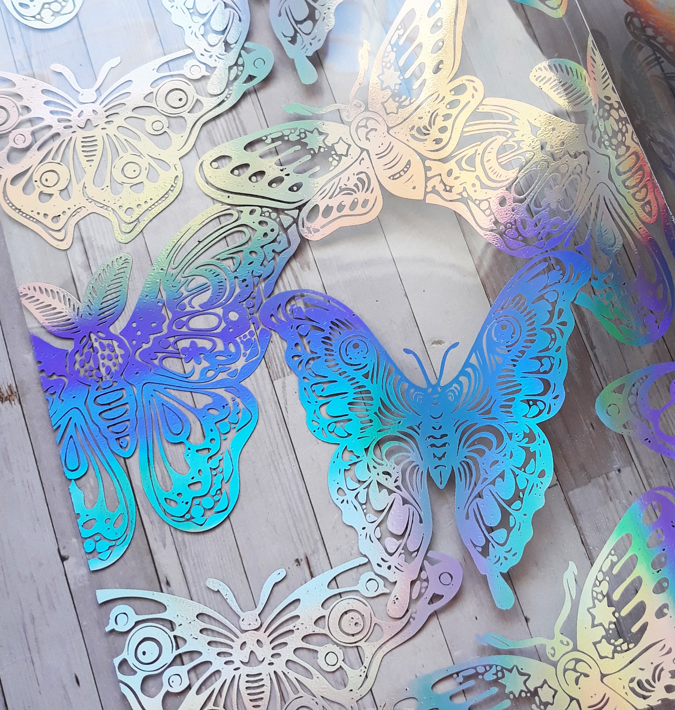 Acetate Foiled Moths-Butterfly Dashboard