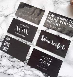 Motivational quotes planner cards
