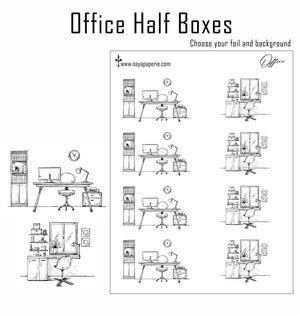 Foiled -  Office/Desk Half Boxes