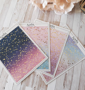 Foiled starts glitter ombre headers