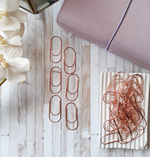 Rose Gold Giant Paperclips
