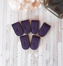 Plum magnetic bookmark