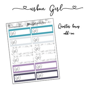 Urban Girl add-on - Quarter Boxes