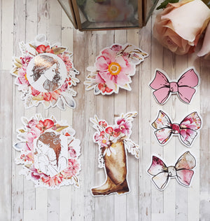 Rosey Collection Die Cuts Foiled