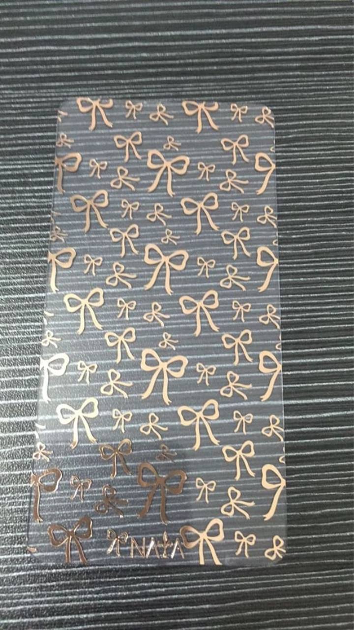 Rose Gold bows exclusive washi card