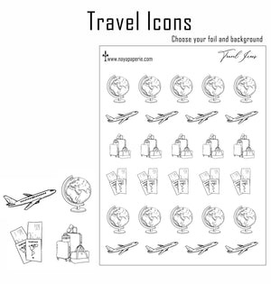Foiled -  Travel Icons