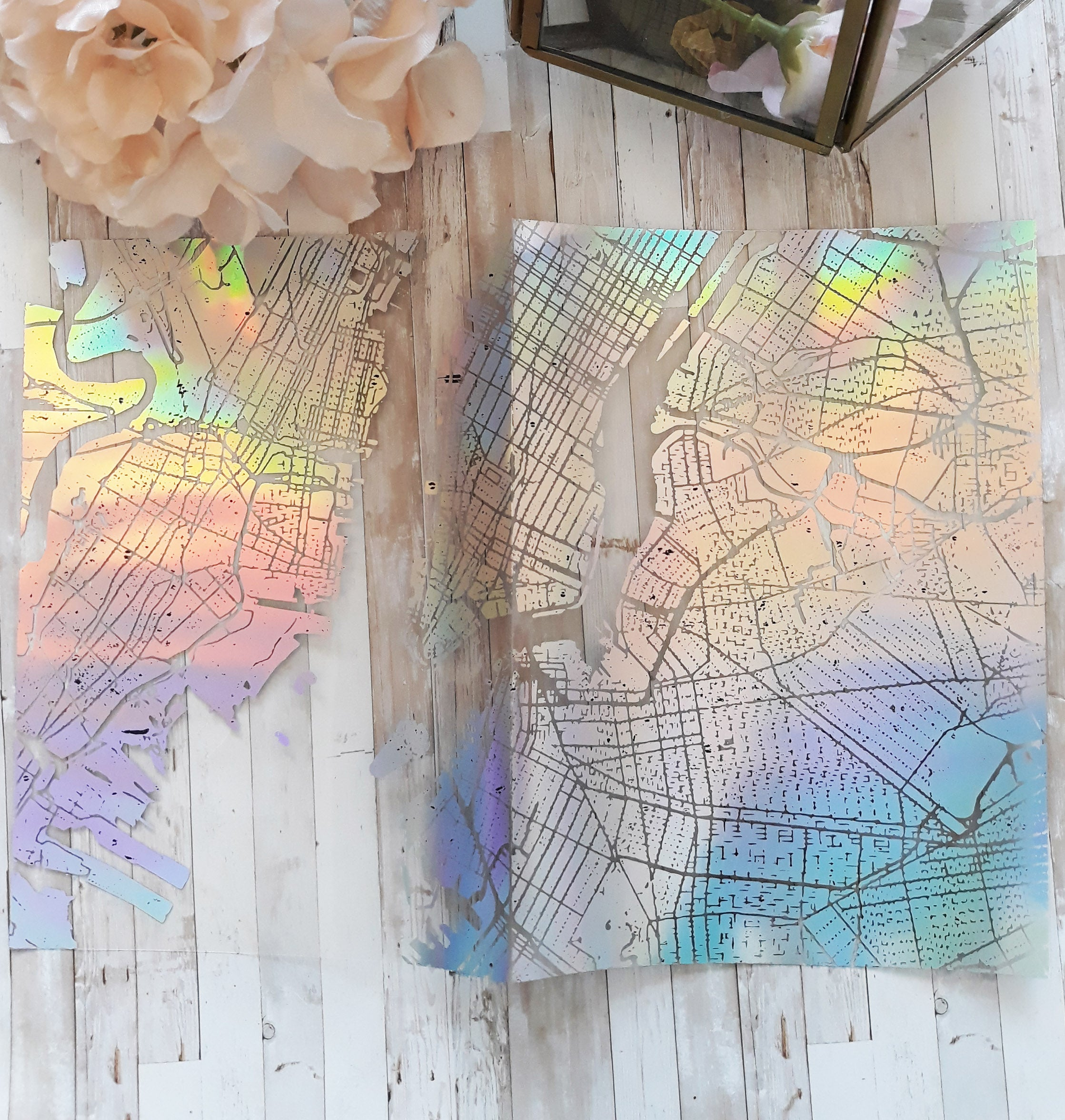 Acetate Foiled New York Map Planner Dashboard