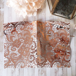 Acetate Foiled Lace Planner Dashboards