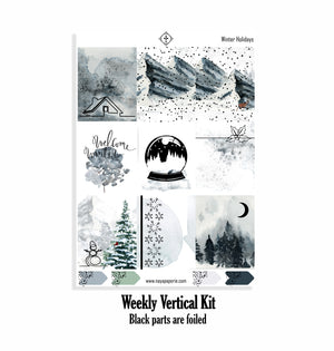 Winter Holiday foiled  kit- 4 sheets