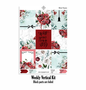 Winter Passion foiled kit - 4 sheets
