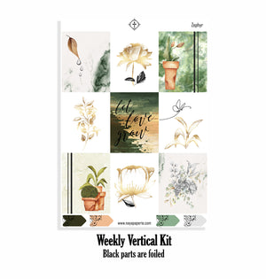 Zephyr foiled  kit- 4 sheets