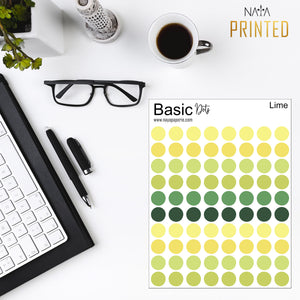 Basic Dots - Lime Palette
