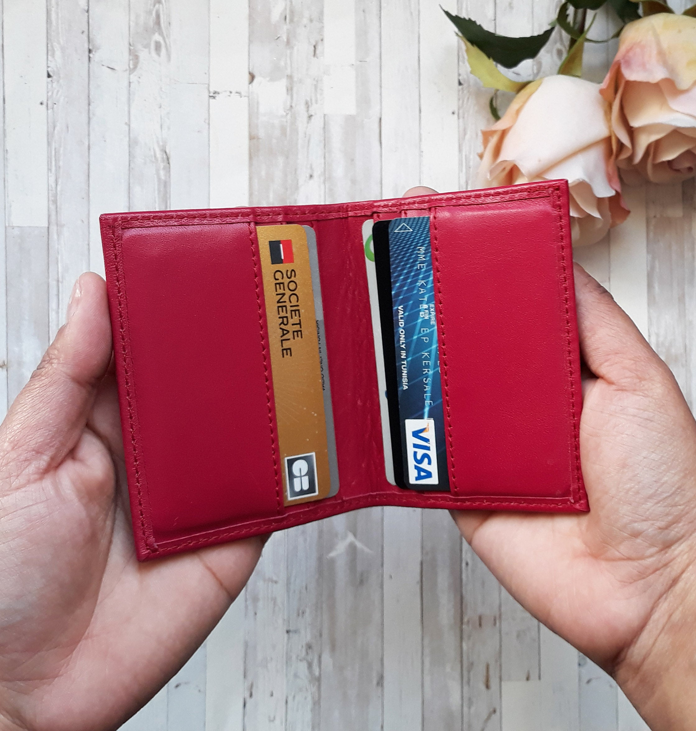 Leather card holder - Choose your leather