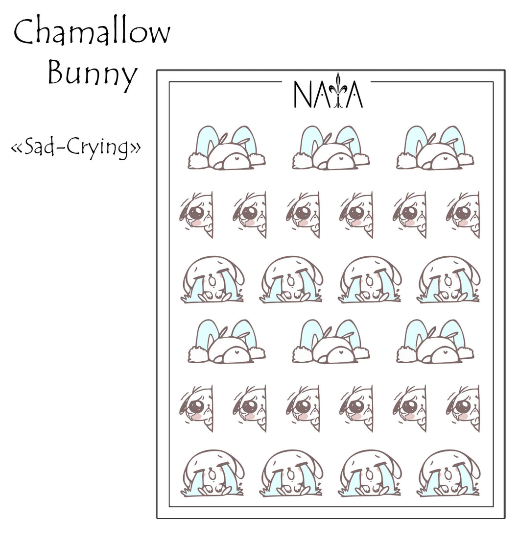 Chamallow Bunny Sad-Crying
