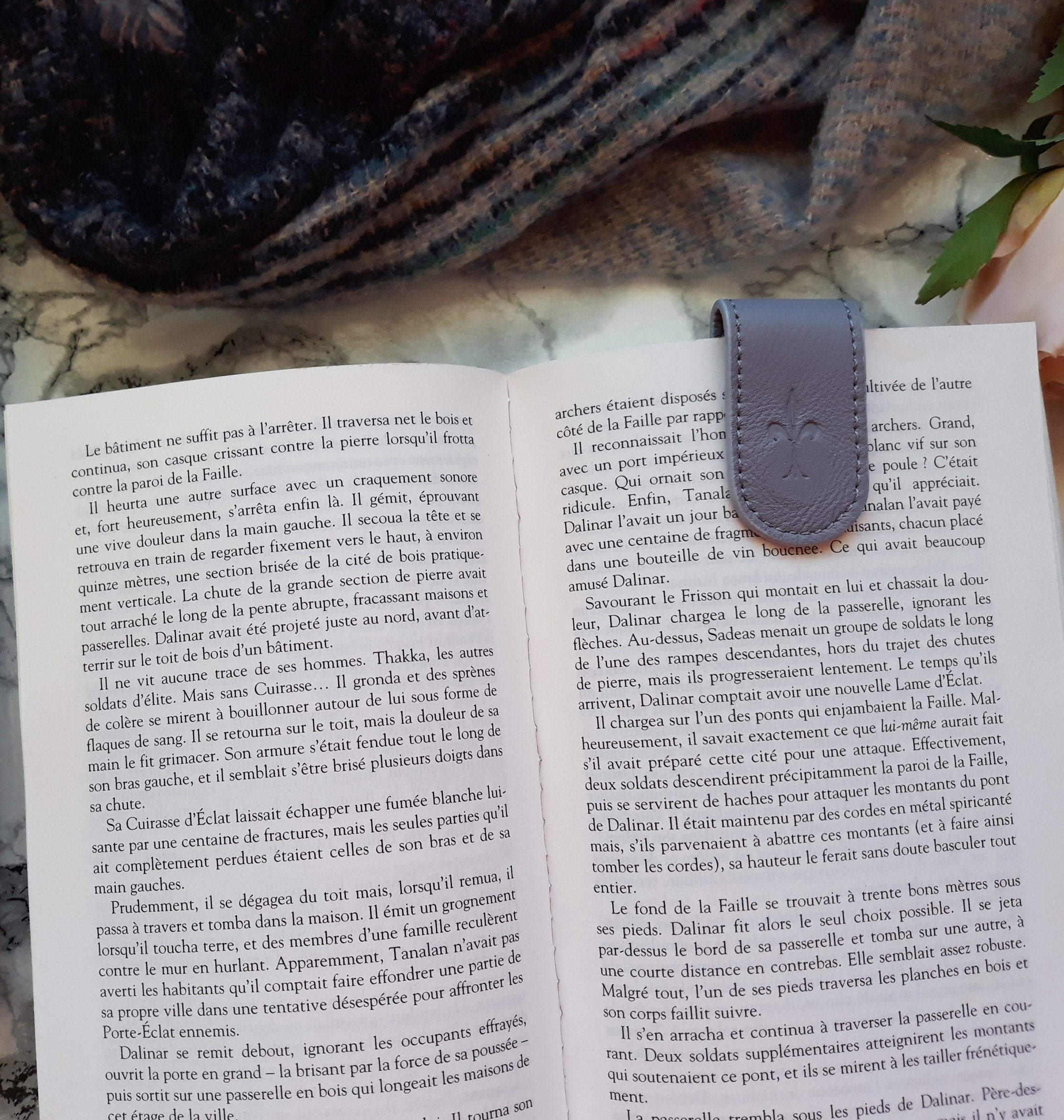 Dusty Lilac magnetic bookmark