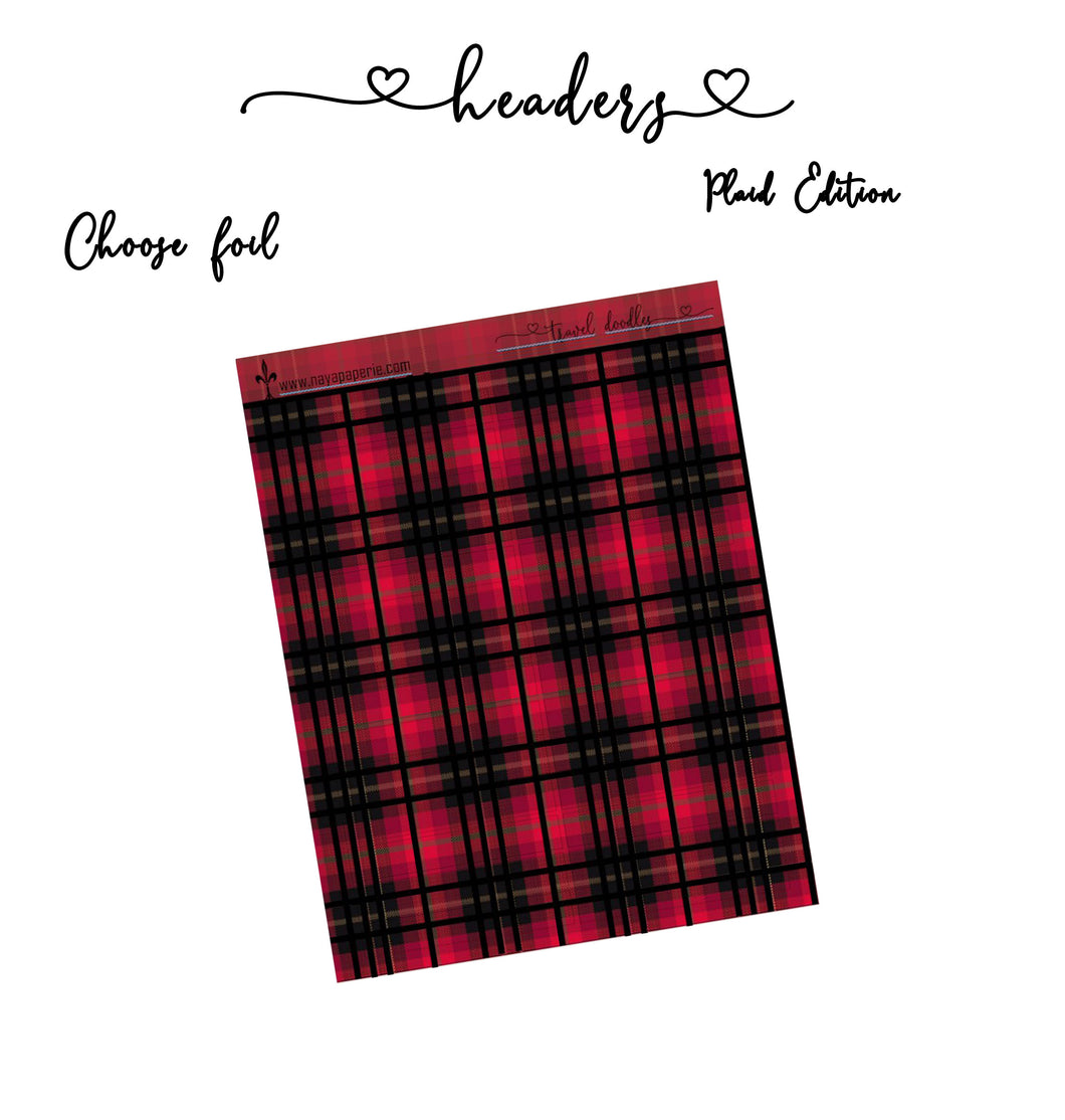 Headers - Plaid Edition