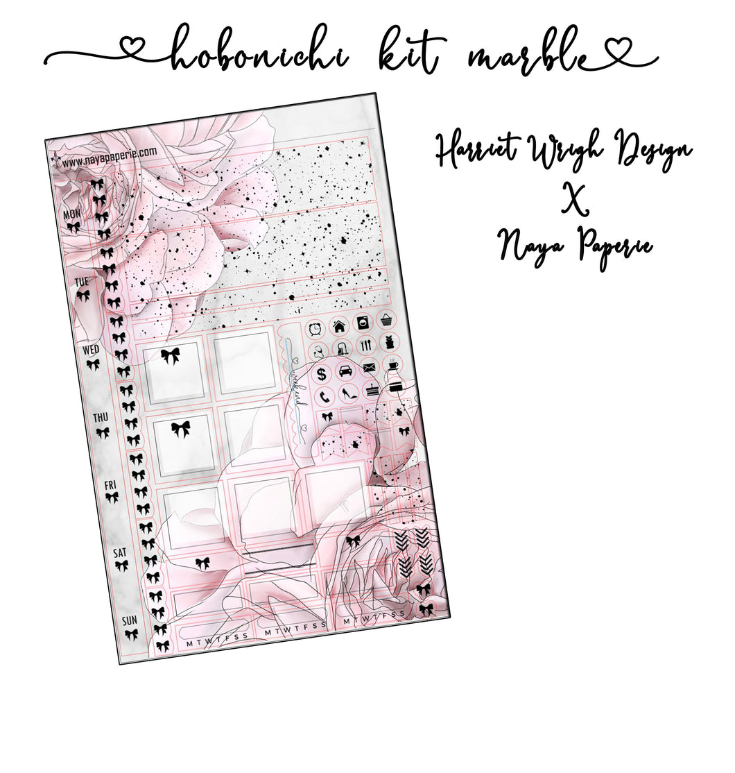 HWD x Naya Collab Hobo week kit - Marble